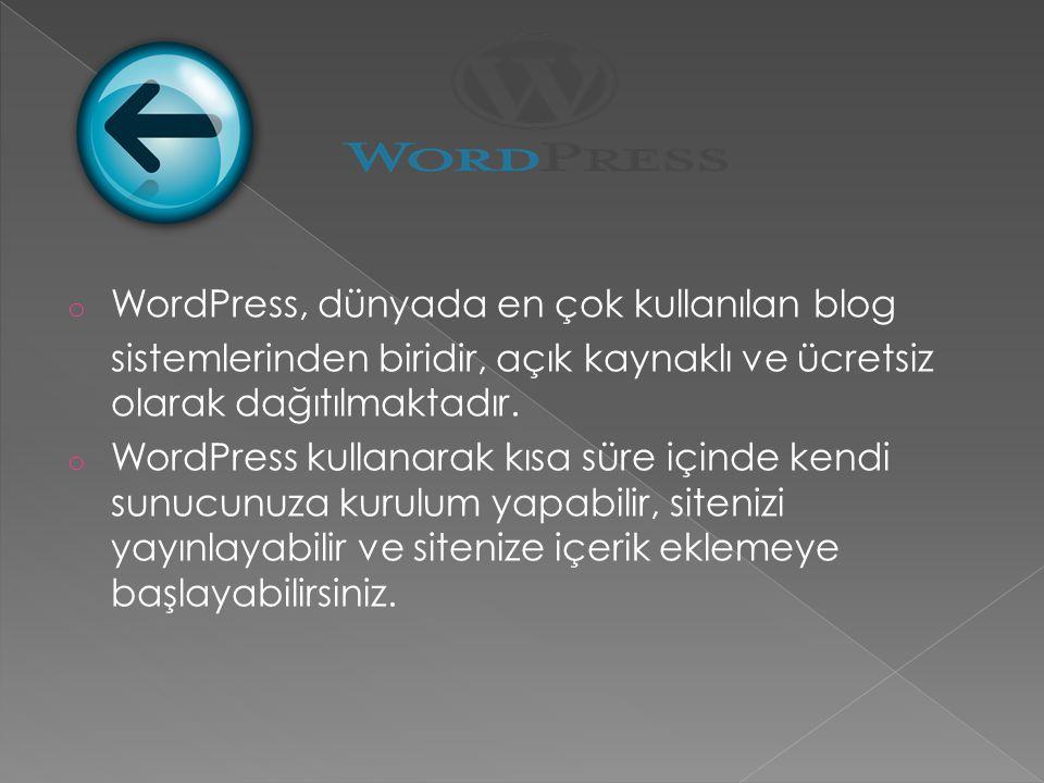 WordPress, dünyada en çok kullanılan blog