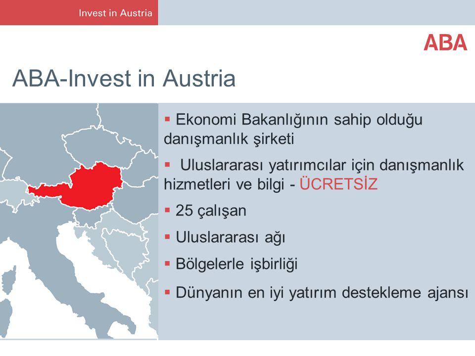 ABA-Invest in Austria Ekonomi Bakanlığının sahip olduğu danışmanlık şirketi.