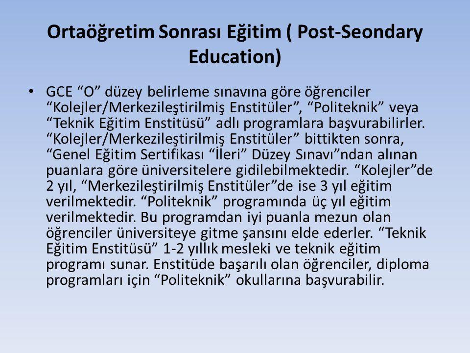 Ortaöğretim Sonrası Eğitim ( Post-Seondary Education)