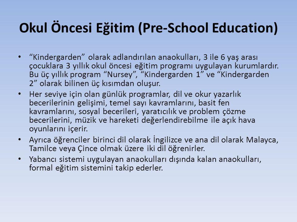 Okul Öncesi Eğitim (Pre-School Education)