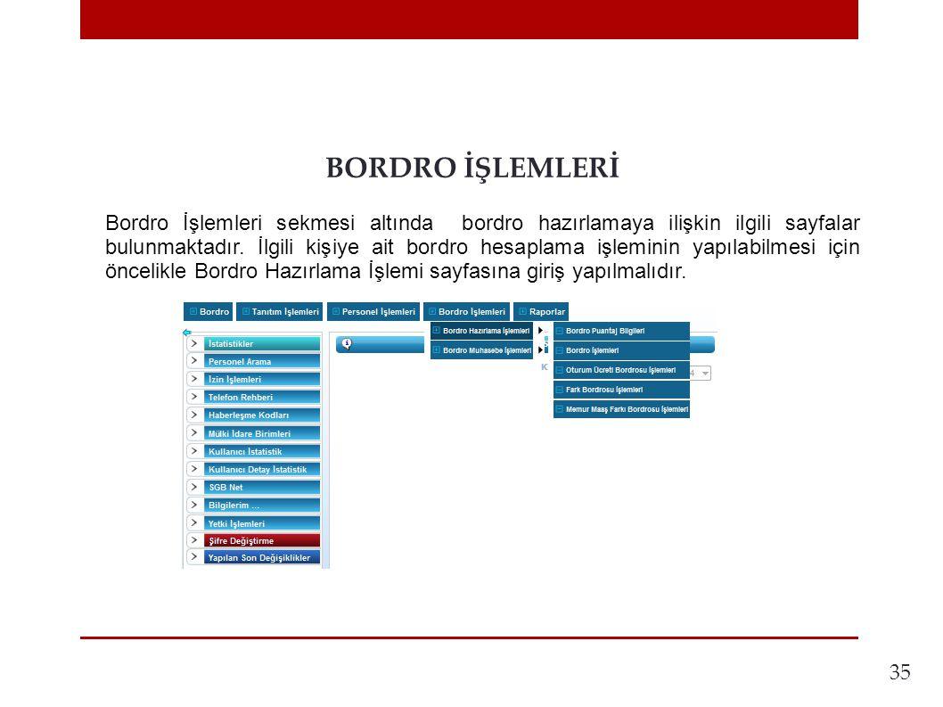 BORDRO İŞLEMLERİ