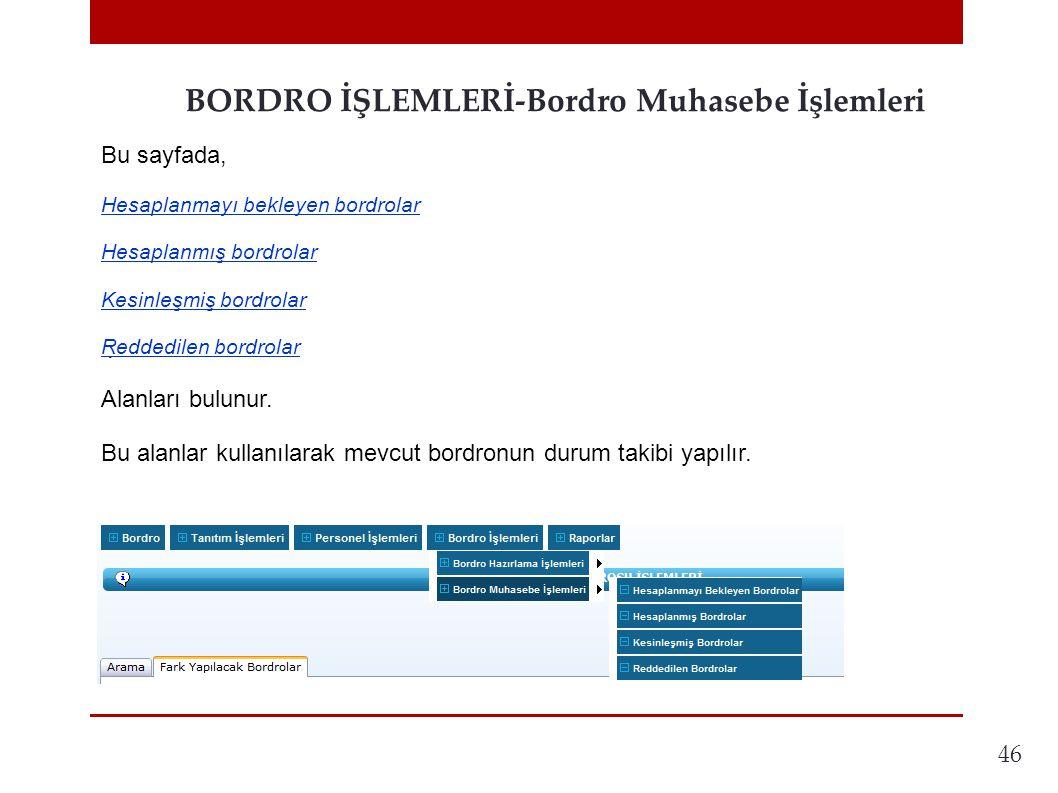 BORDRO İŞLEMLERİ-Bordro Muhasebe İşlemleri