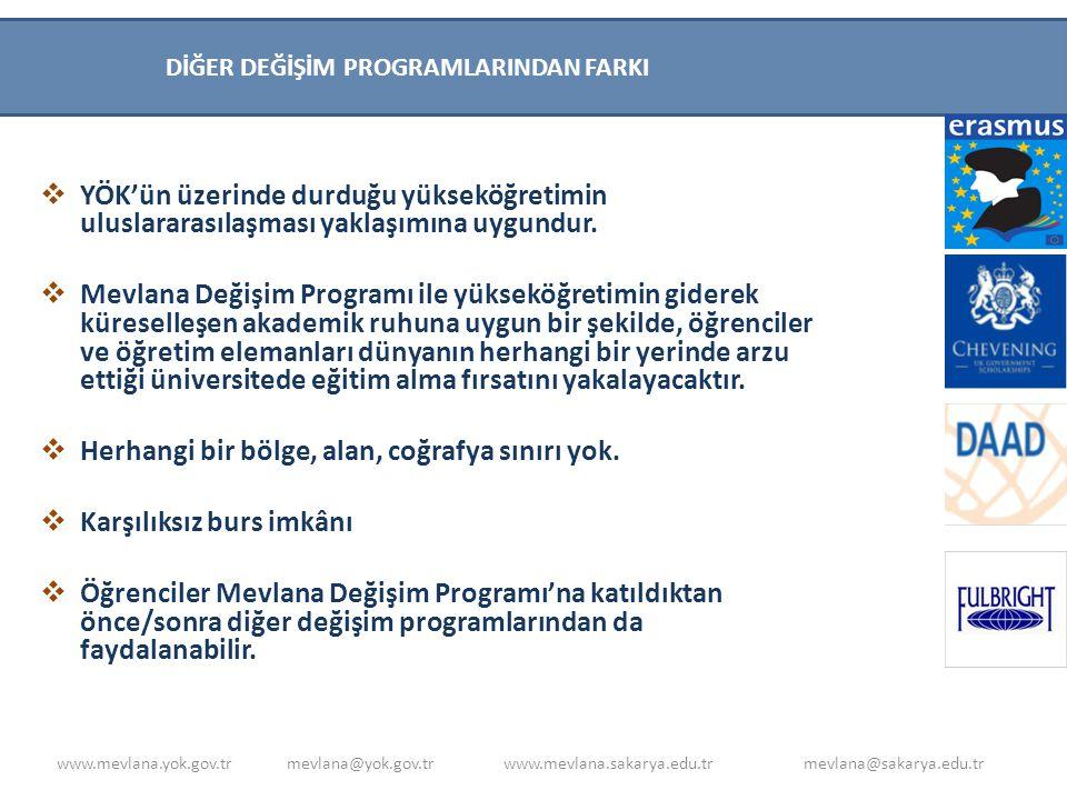Di DİĞER DEĞİŞİM PROGRAMLARINDAN FARKI. YÖK'ün üzerinde durduğu yükseköğretimin uluslararasılaşması yaklaşımına uygundur.