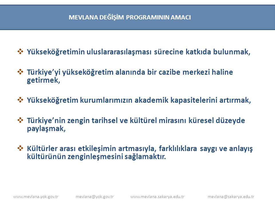 Yükseköğretimin uluslararasılaşması sürecine katkıda bulunmak,