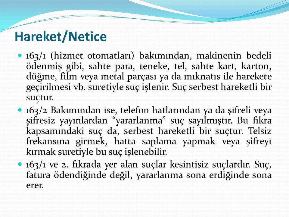 Hareket/Netice