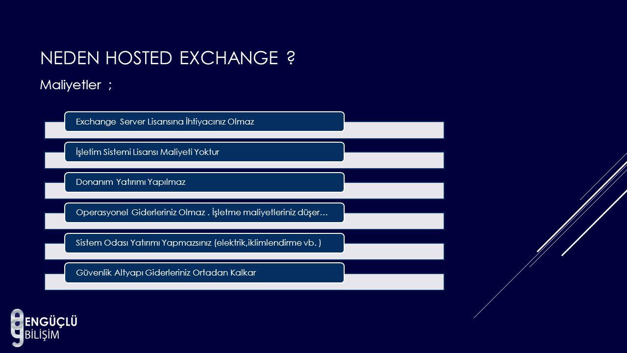 Neden Hosted Exchange Maliyetler ;