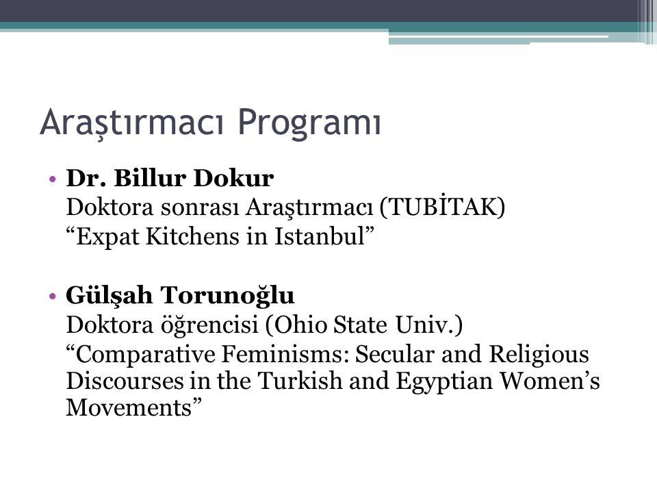 Araştırmacı Programı Dr. Billur Dokur