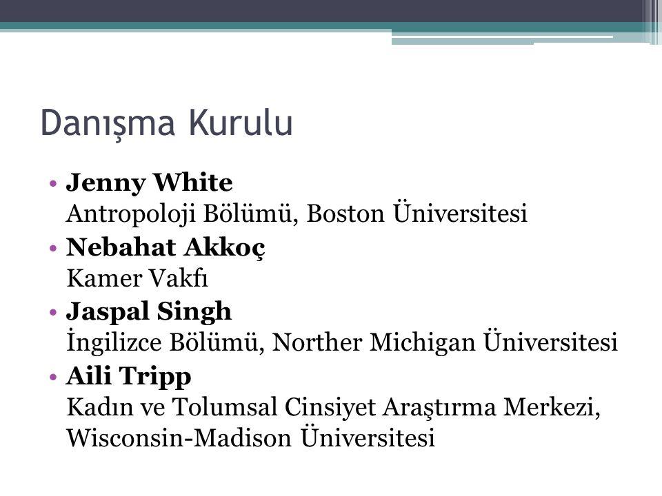 Danışma Kurulu Jenny White Antropoloji Bölümü, Boston Üniversitesi