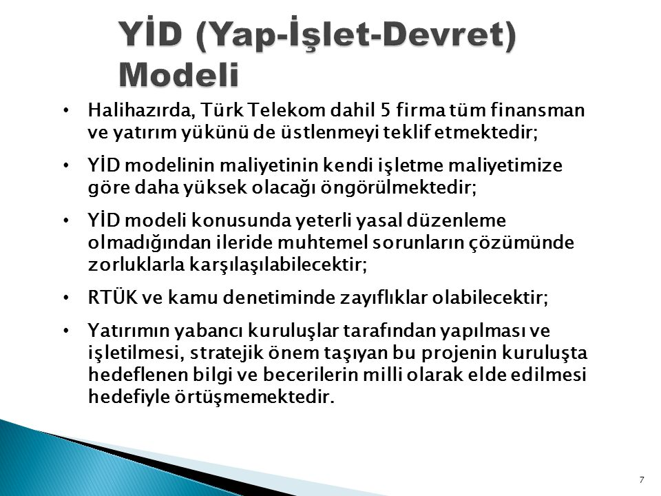 YİD (Yap-İşlet-Devret) Modeli