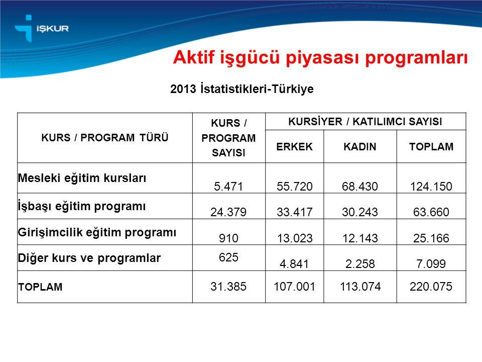 2013 İstatistikleri-Türkiye