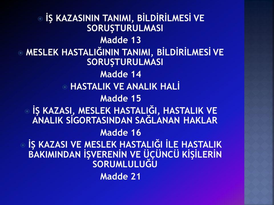 Madde 13 Madde 14 Madde 15 Madde 16 Madde 21
