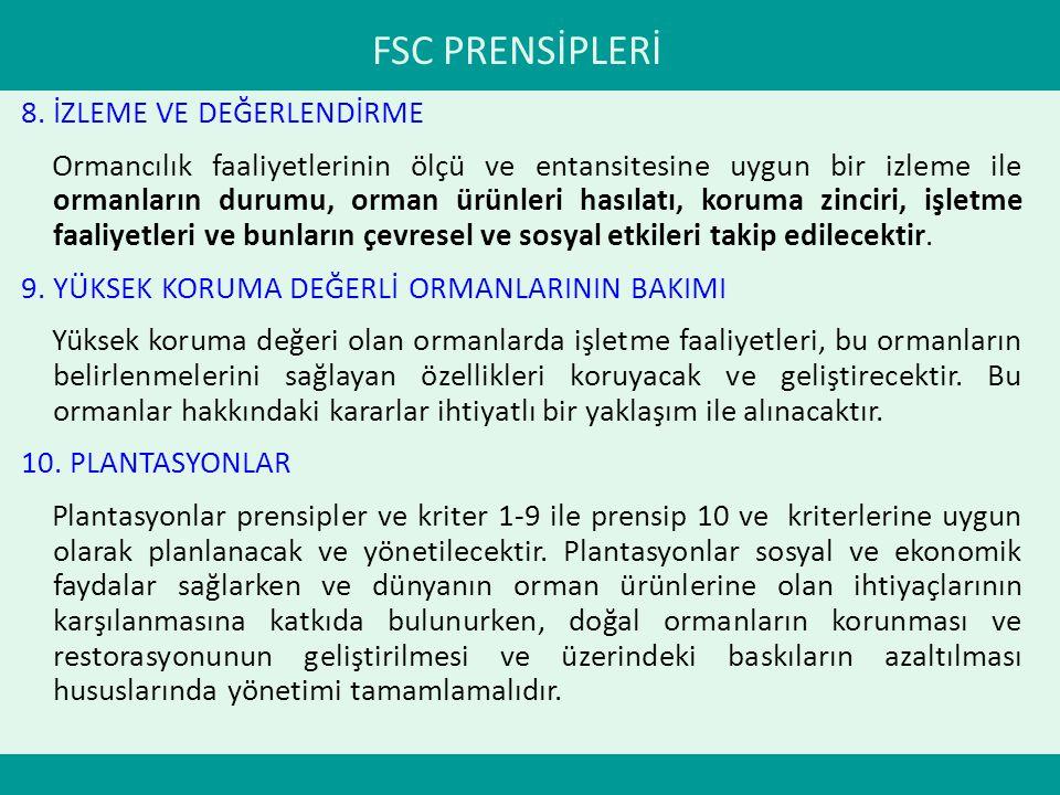 FSC PRENSİPLERİ