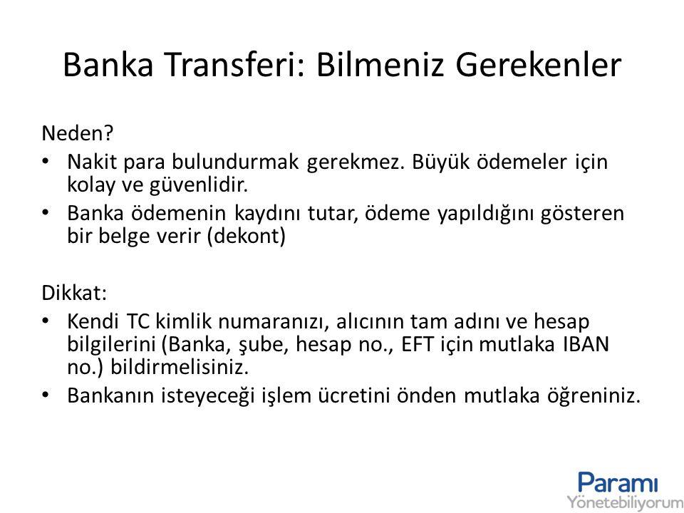 Banka Transferi: Bilmeniz Gerekenler