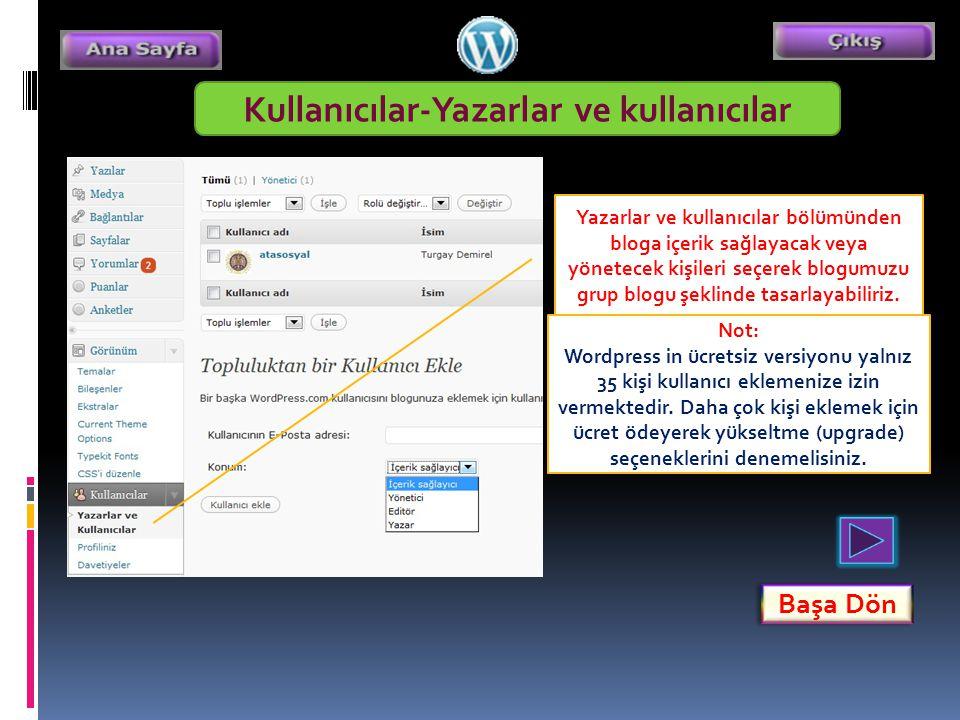 Kullanıcılar-Yazarlar ve kullanıcılar