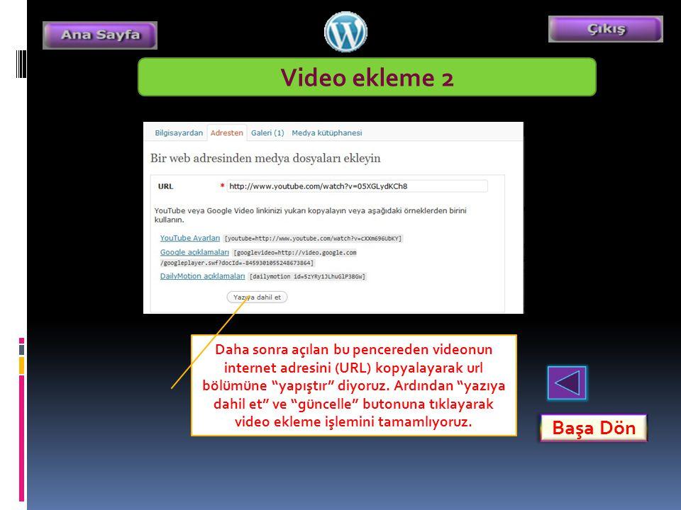 Video ekleme 2