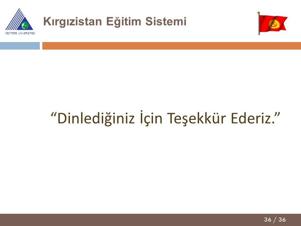 Kırgızistan Eğitim Sistemi