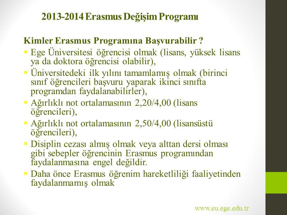 2013-2014 Erasmus Değişim Programı