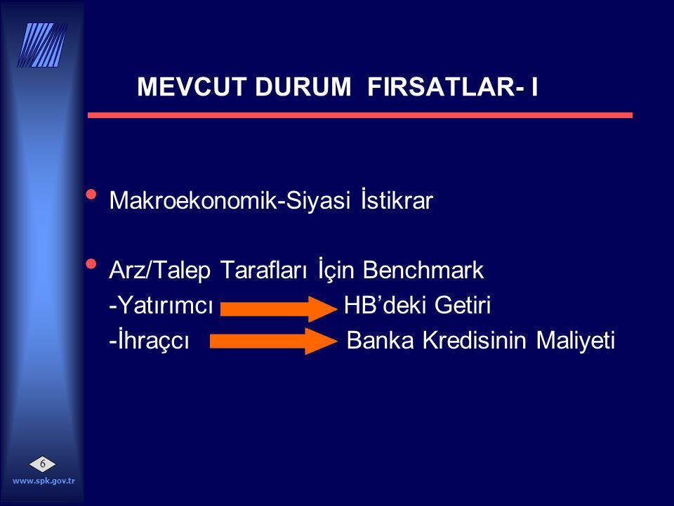 MEVCUT DURUM FIRSATLAR- I