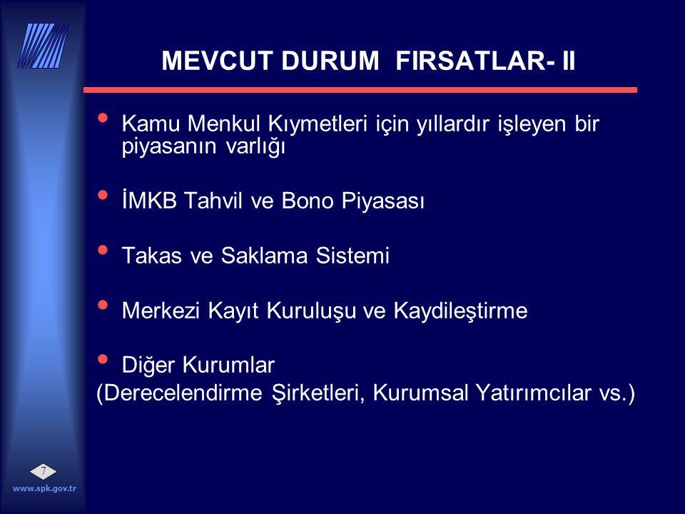 MEVCUT DURUM FIRSATLAR- II