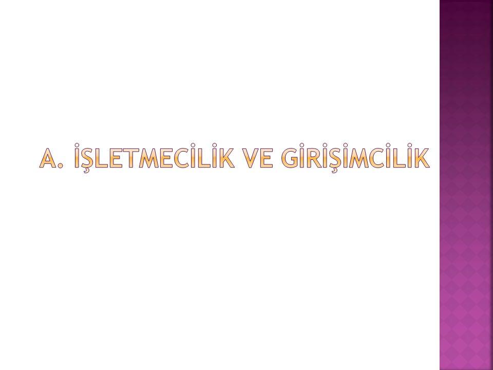 a. İŞLETMECİLİK VE GİRİŞİMCİLİK