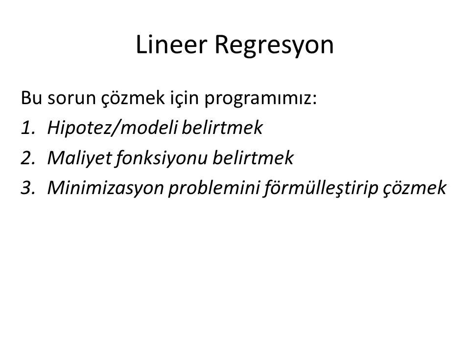 Lineer Regresyon Bu sorun çözmek için programımız: