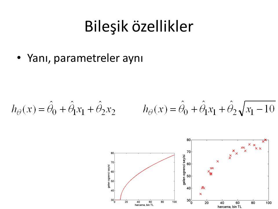 Bileşik özellikler Yanı, parametreler aynı