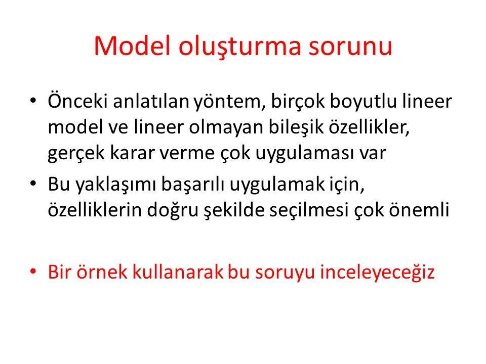 Model oluşturma sorunu