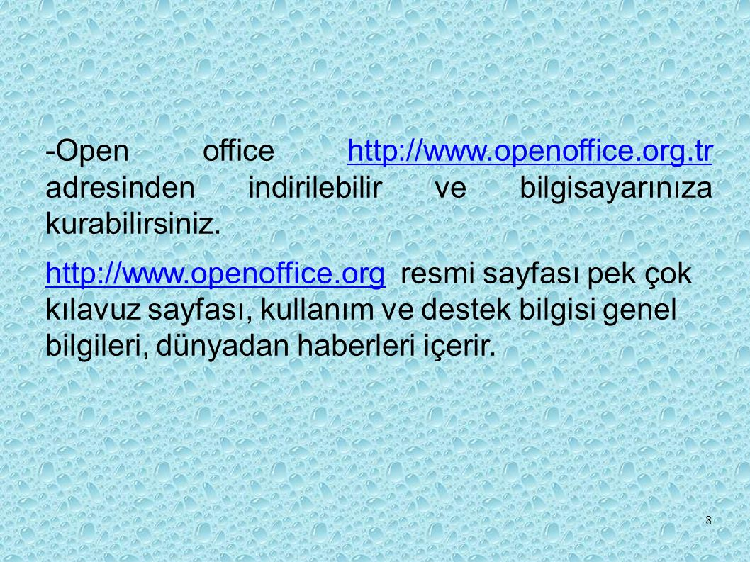 -Open office http://www. openoffice. org