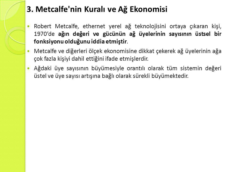 3. Metcalfe nin Kuralı ve Ağ Ekonomisi