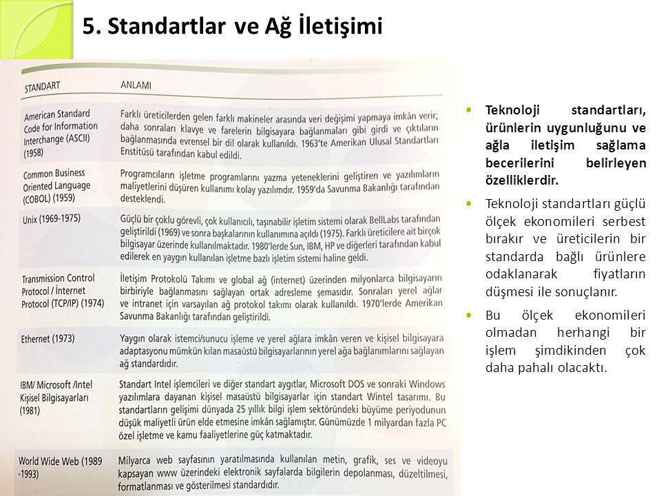 5. Standartlar ve Ağ İletişimi