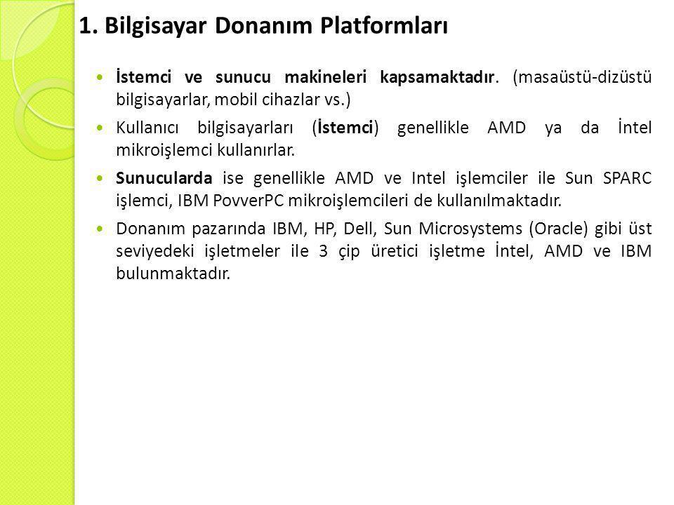 1. Bilgisayar Donanım Platformları