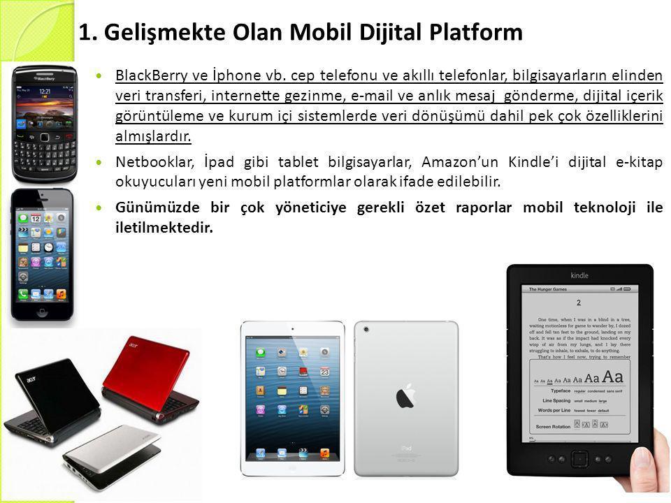 1. Gelişmekte Olan Mobil Dijital Platform