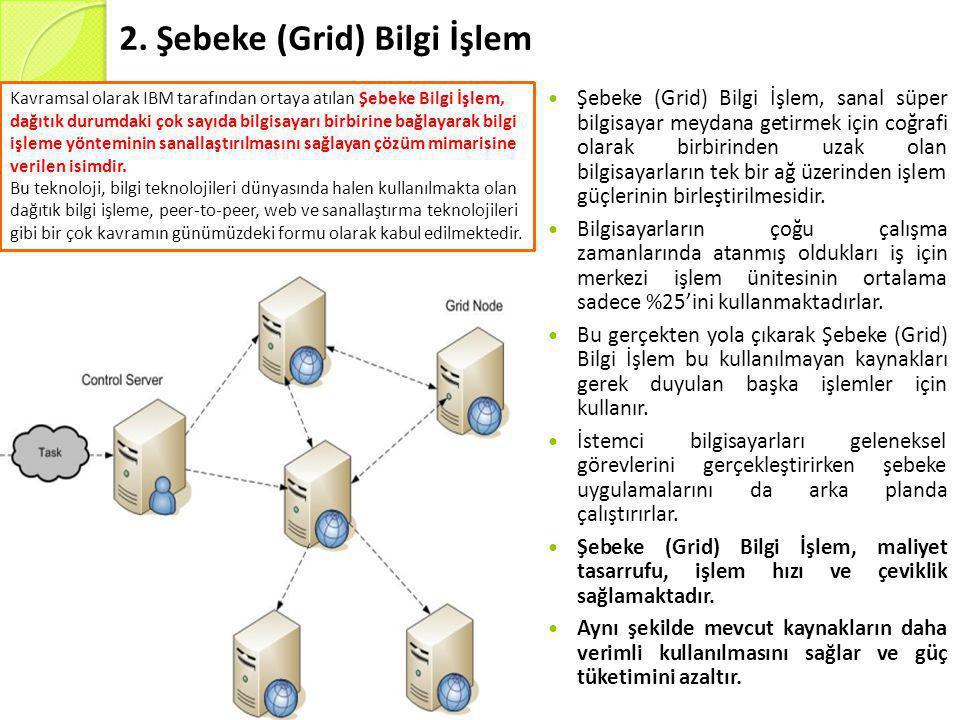 2. Şebeke (Grid) Bilgi İşlem
