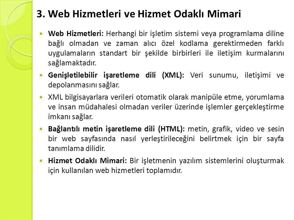 3. Web Hizmetleri ve Hizmet Odaklı Mimari