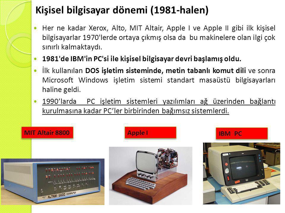 Kişisel bilgisayar dönemi (1981-halen)