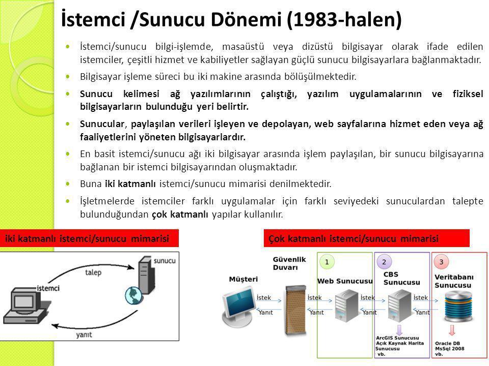 İstemci /Sunucu Dönemi (1983-halen)