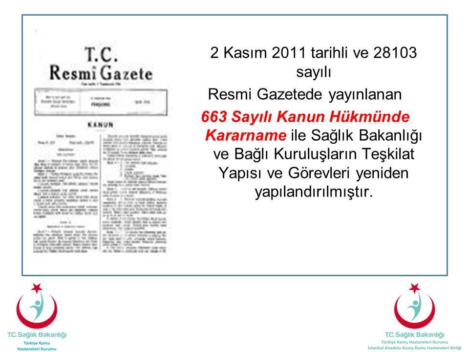 2 Kasım 2011 tarihli ve 28103 sayılı Resmi Gazetede yayınlanan