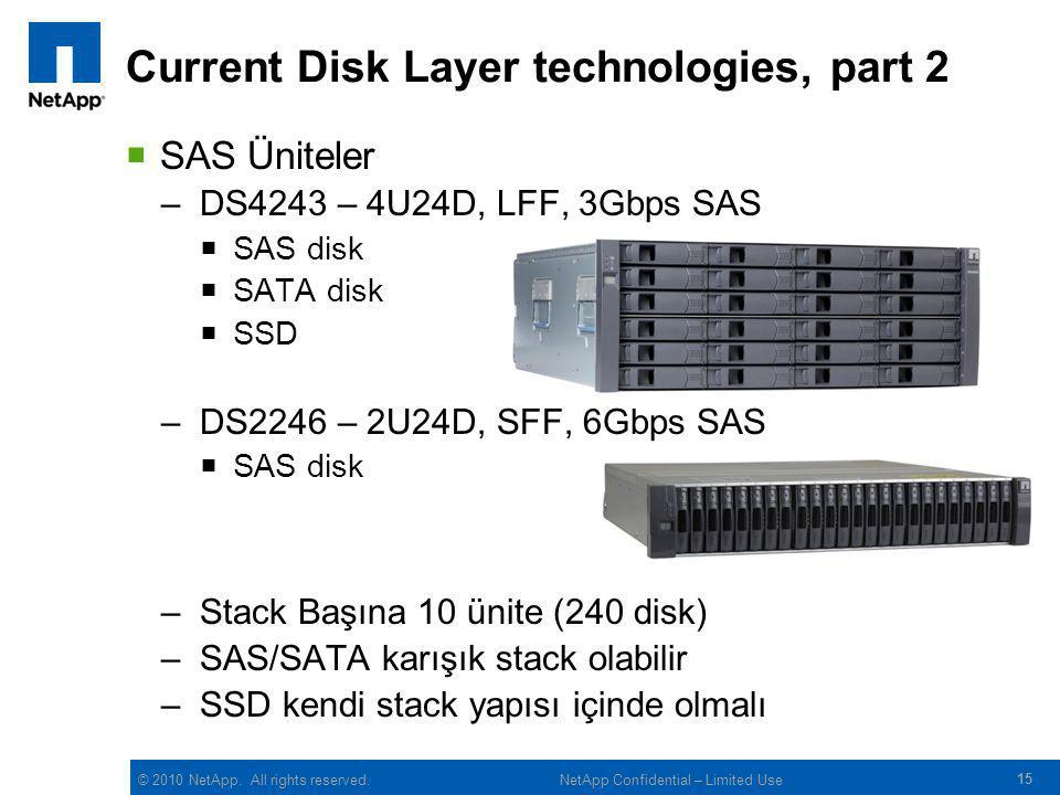 Current Disk Layer technologies, part 2