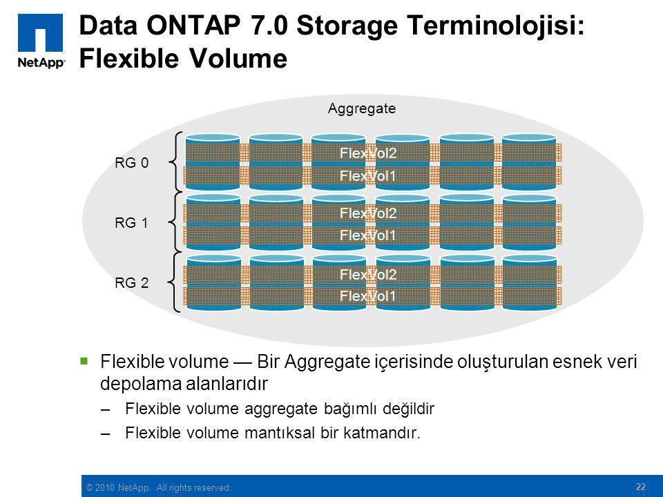 Data ONTAP 7.0 Storage Terminolojisi: Flexible Volume