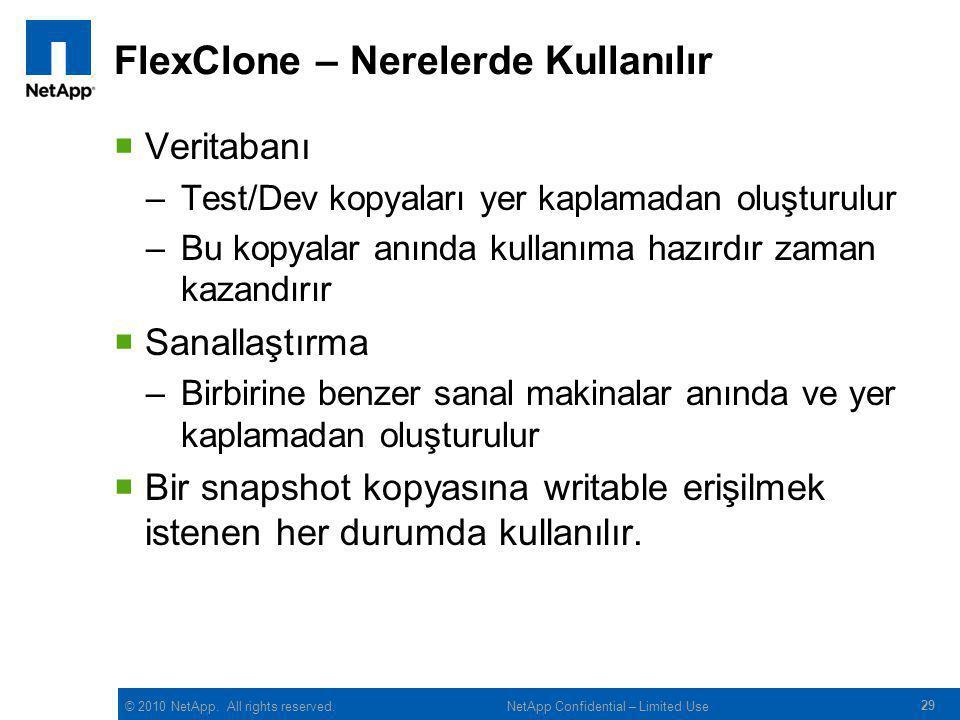 FlexClone – Nerelerde Kullanılır