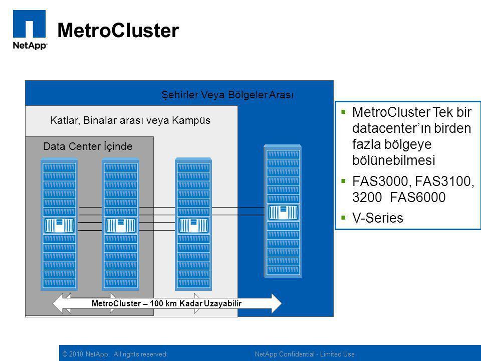 MetroCluster – 100 km Kadar Uzayabilir