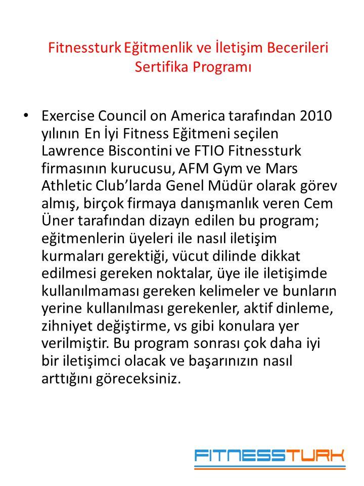 Fitnessturk Eğitmenlik ve İletişim Becerileri Sertifika Programı