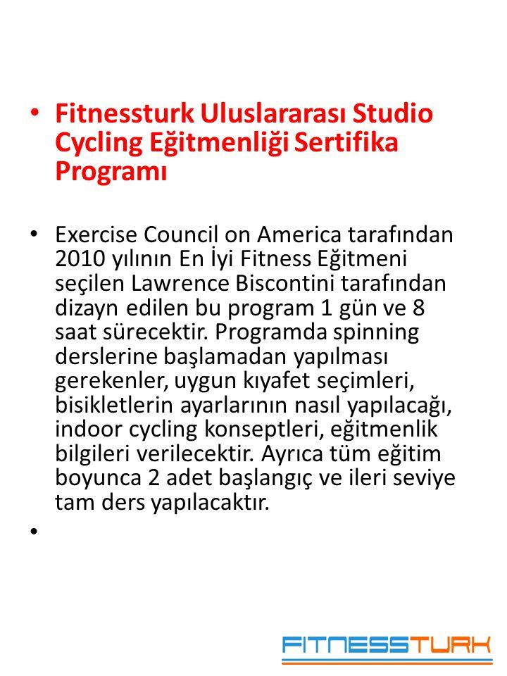 Fitnessturk Uluslararası Studio Cycling Eğitmenliği Sertifika Programı