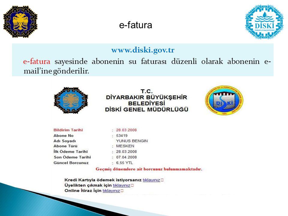 e-fatura www.diski.gov.tr