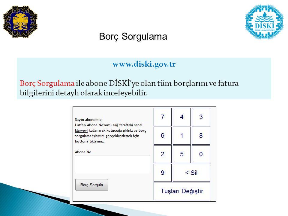 Borç Sorgulama www.diski.gov.tr
