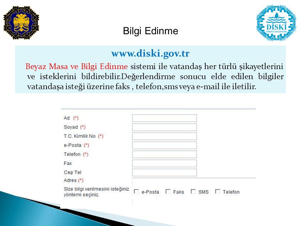 Bilgi Edinme www.diski.gov.tr