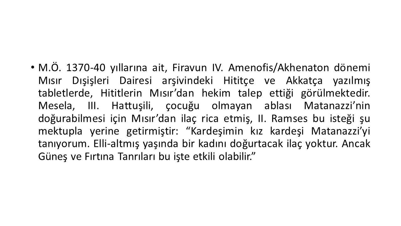 M. Ö. 1370-40 yıllarına ait, Firavun IV