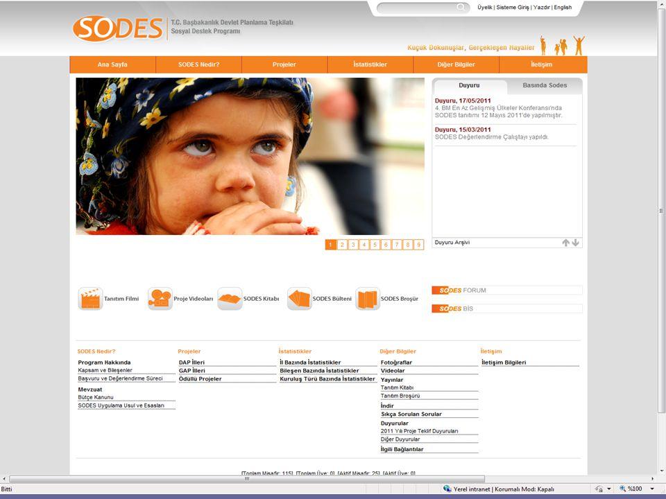 SODES Çocuklara Yönelik Projeler (2010) - 2