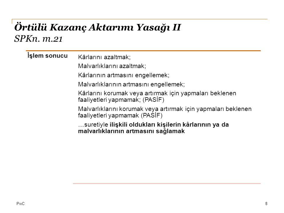 Örtülü Kazanç Aktarımı Yasağı II SPKn. m.21
