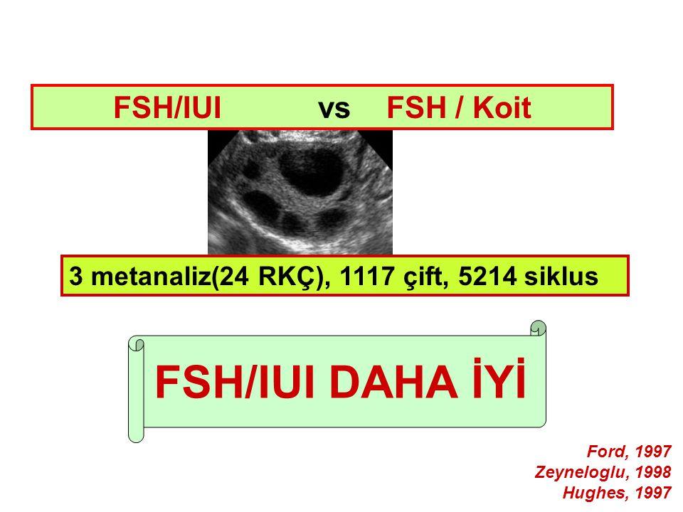 FSH/IUI DAHA İYİ FSH/IUI vs FSH / Koit